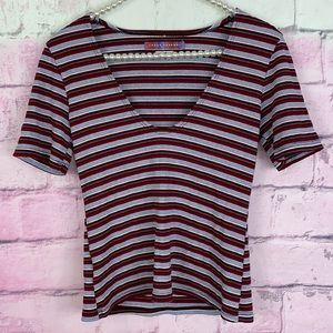 Urban Renewal striped shirt sleeve top small